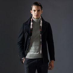 Bingham - Mock Two-Piece Wool Blend Coat