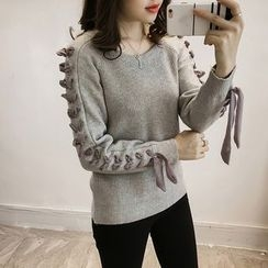 Little V - Lace-Up Sweater