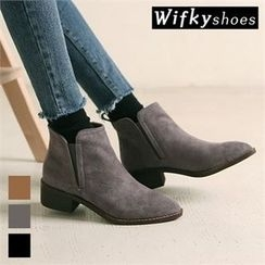 Wifky - Faux-Suede Ankle Boots