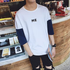 Besto - Two-Tone 3/4 Sleeve T-Shirt