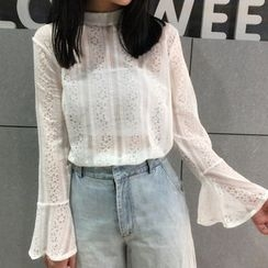 Eva Fashion - Long Sleeve Lace Top