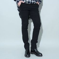 Ohkkage - Flat-Front Pants