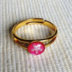 MyLittleThing - Resin Little Snowflake Ring (Pink)