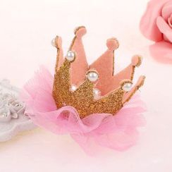 Caramella - Kids Glitter Crown Hair Clip