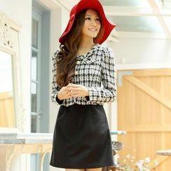Tokyo Fashion - Mock-Two Piece Check Dress