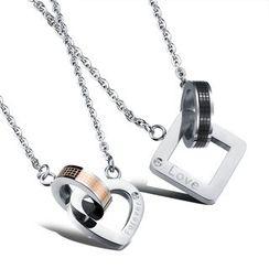 腾翼 - 字母金属项链