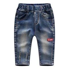Endymion - 童装汽车印花牛仔裤