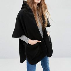 Richcoco - Elbow-Sleeve Hooded Jacket