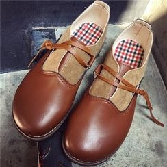 Hipsole - Faux-Leather Panel Loafers