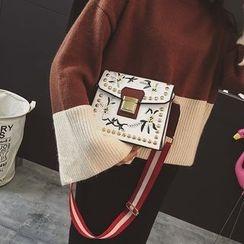 薇薇 - 花形刺绣单肩包