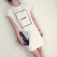 Pluvio - 短袖字母T恤连衣裙