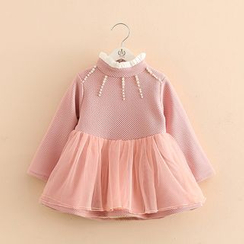Seashells Kids - Kids Embellished Long Sleeve Tulle Dress