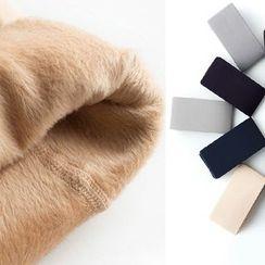 LA SHOP - Fleece Lined Plain Tights