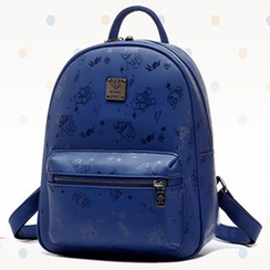 BeiBaoBao - Faux-Leather Print Backpack