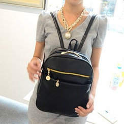 I.O.U - Faux Leather Backpack