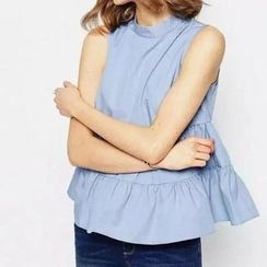 Chicsense - Sleeveless Tiered Top