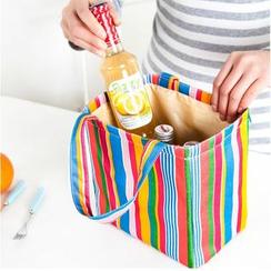 Hagodate - Striped Lunch Box Bag