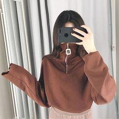 Dute - 半拉鏈高領毛衣