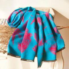 羚羊早安 - 針織厚款拉絨民族保暖超大圍巾