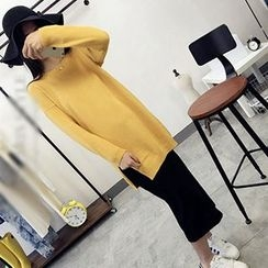 Polaris - Side Slit Long Sweater