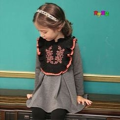 Cuckoo - Kids Long-Sleeve Embroidered A-Line Dress