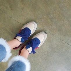PINKSISLY - Color-Block Lace-Up Sneakers