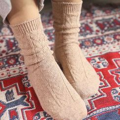 Rooftop Sonata - Cable Knit Socks
