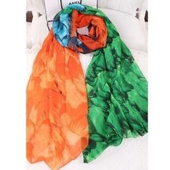 Cuteberry - Feather-Print Scarf