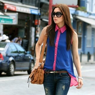 59 Seconds - Two-Tone Sleeveless Shirt
