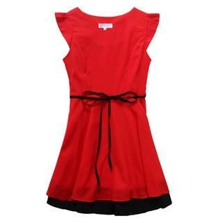 Hanee - Cap-Sleeve Ruffle Dress
