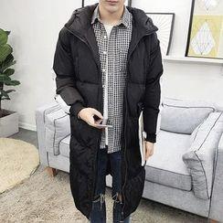 Bay Go Mall - Plain Hooded Down Coat