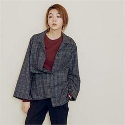MAGJAY - Wool Blend Checked Shirt