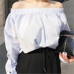 LIPHOP - Banded Off-Shoulder Top