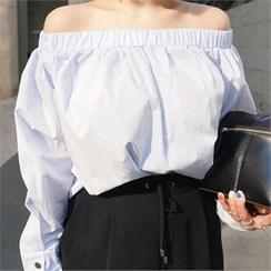 LIPHOP - 束露肩上衣