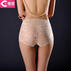 Charming Lover - High-Waist Lace Panel Panties