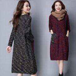 Splashmix - Long-Sleeve Printed Dress
