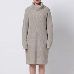 Richcoco - Turtleneck Sweater Dress