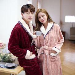 SHIRLEY - Couple Matching Fleece Robe