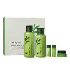 悦诗风吟 - Green Tea Balancing Special Skin Care Set: Skin 200ml + 15ml + Lotion 160ml + 15ml + Cream 5ml
