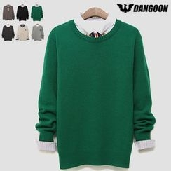 DANGOON - Round-Neck Knit Top