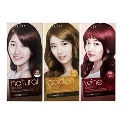 The Face Shop - Stylist Silky Hair Color Cream (Orange Brown): Hairdye 60ml + Oxidizing Agent 60ml + Hair Treatment 10ml