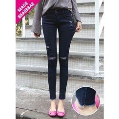 BBAEBBAE - Distressed Skinny Jeans