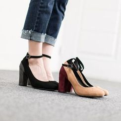 VIVIER - Ankle-Strap Two-Tone Pumps