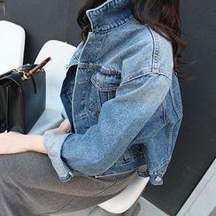 MARSHMALLOW - Washed Denim Jacket