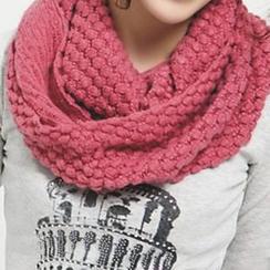 Rita Zita - 華夫紋針織圓圈圍巾