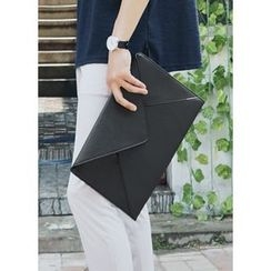 JOGUNSHOP - Faux-Leather Envelope Clutch