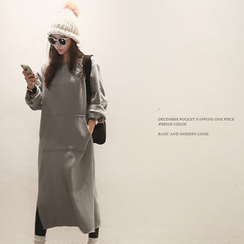 NANING9 - Brushed-Fleece Pullover Dress