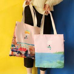 Bolso - 印花帆布购物袋