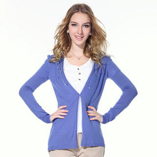 O.SA - Wool-Blend Scalloped-Trim Sequined Cardigan