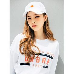 icecream12 - Drop-Shoulder Lettering T-Shirt